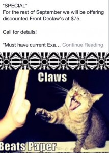 ParksideDeclawSpecialclaw