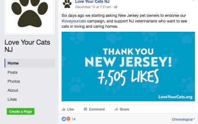 NJVMA- Disingenuous about their love of cats